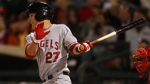 Mike Trout hit .326 with 33 steals at Double-A Arkansas last year.